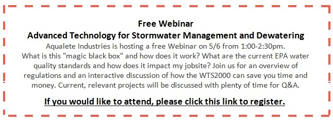 Aqualete Industries wwill host a webniar about the WTS2000 portable sediment tank